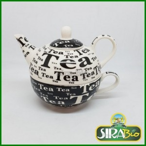 Teiera Black&White ''Tea For One''