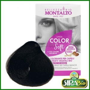 Kit Colorante per Capelli - Linea Color Soft Nero 1.0