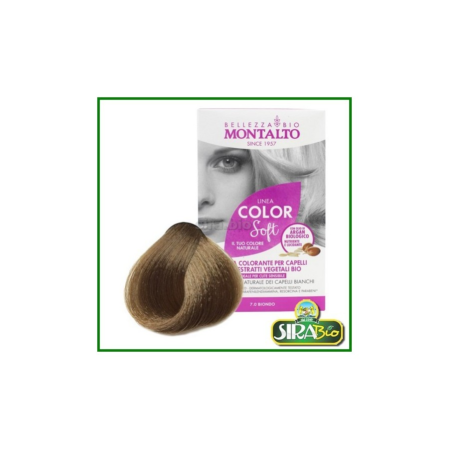 Linea Color Soft Biondo 7.0 -- Kit Colorante per Capelli - Sira Bio 80959ea88499