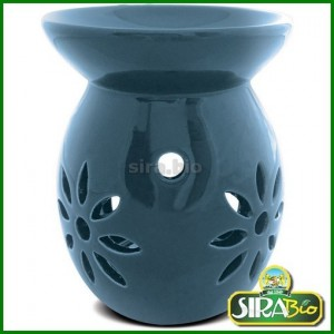 Brucia Essenze in Ceramica Star Blu